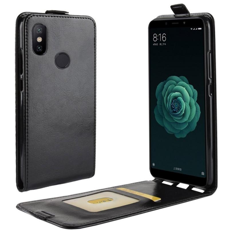 10195 - MadPhone Flip кожен калъф за Xiaomi Mi A2