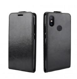 10196 - MadPhone Flip кожен калъф за Xiaomi Mi A2