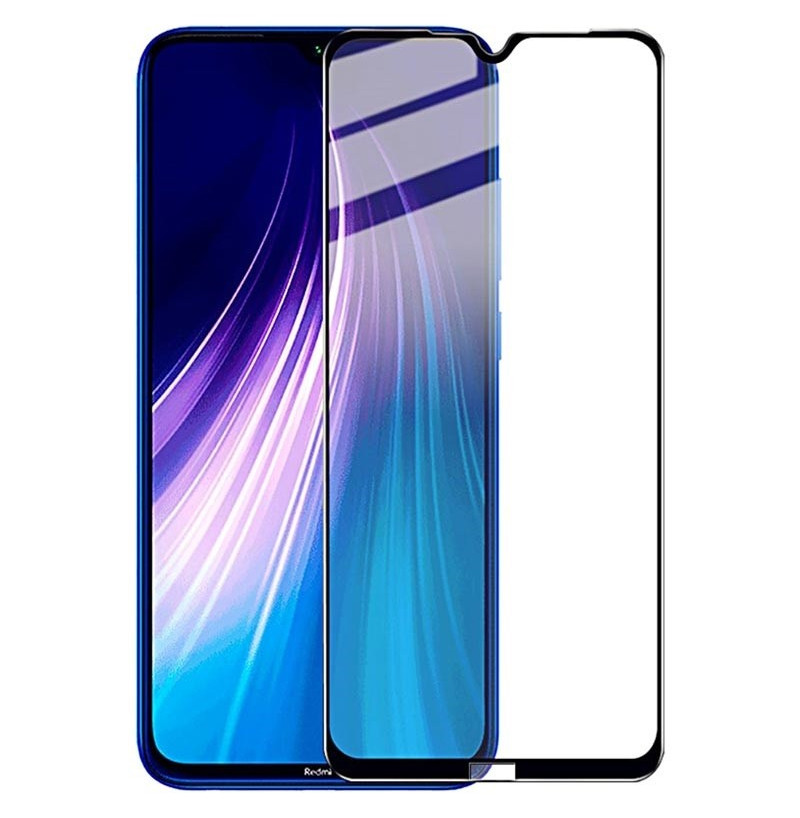 10569 - 3D стъклен протектор за целия дисплей Xiaomi Redmi Note 8 / Note 8 2021
