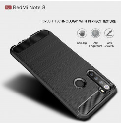 10677 - MadPhone Carbon силиконов кейс за Xiaomi Redmi Note 8