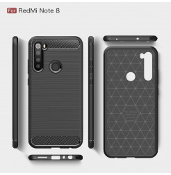 10680 - MadPhone Carbon силиконов кейс за Xiaomi Redmi Note 8