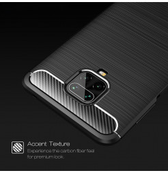 10813 - MadPhone Carbon силиконов кейс за Xiaomi Redmi Note 9S / 9 Pro / Max