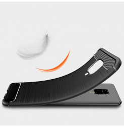 10815 - MadPhone Carbon силиконов кейс за Xiaomi Redmi Note 9S / 9 Pro / Max