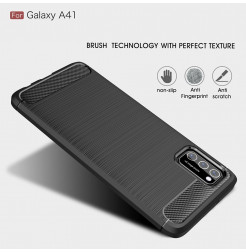 11503 - MadPhone Carbon силиконов кейс за Samsung Galaxy A41