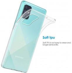 1160 - MadPhone супер слим силиконов гръб за Samsung Galaxy A71