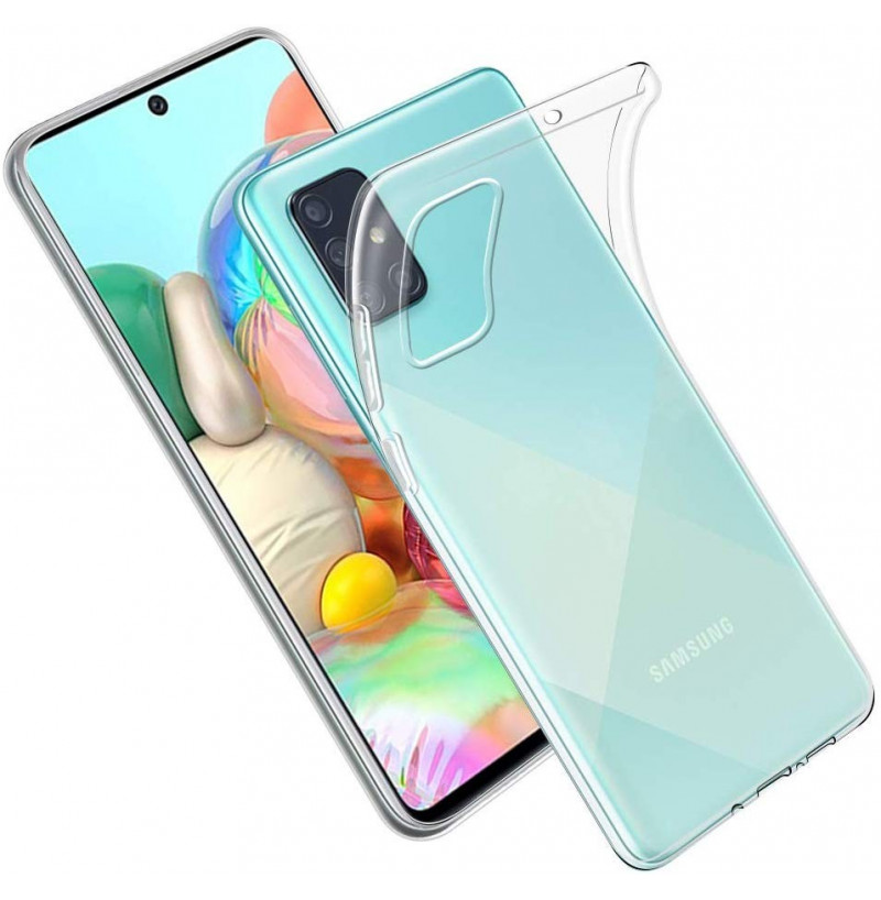 1161 - MadPhone супер слим силиконов гръб за Samsung Galaxy A71