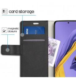 1198 - MadPhone кожен калъф за Samsung Galaxy A71