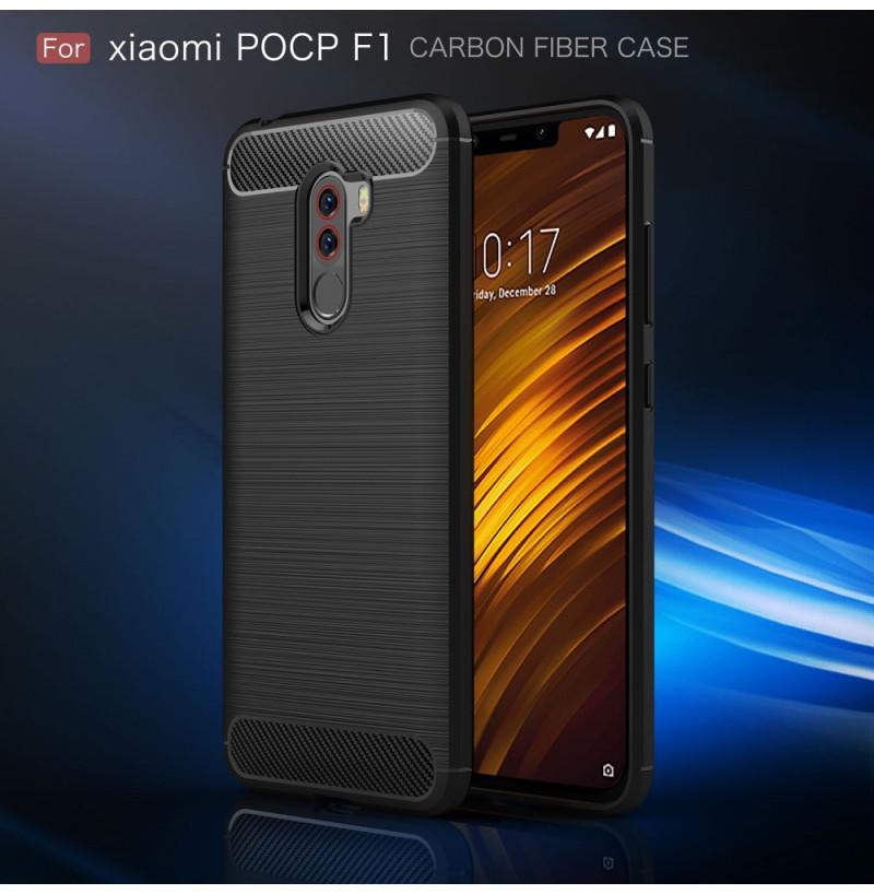 12371 - MadPhone Carbon силиконов кейс за Xiaomi Pocophone F1