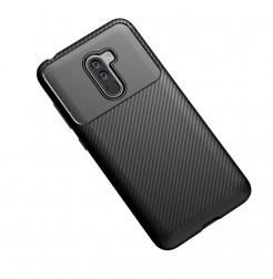 12383 - iPaky Carbon силиконов кейс калъф за Xiaomi Pocophone F1