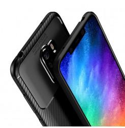 12384 - iPaky Carbon силиконов кейс калъф за Xiaomi Pocophone F1