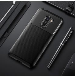 12386 - iPaky Carbon силиконов кейс калъф за Xiaomi Pocophone F1