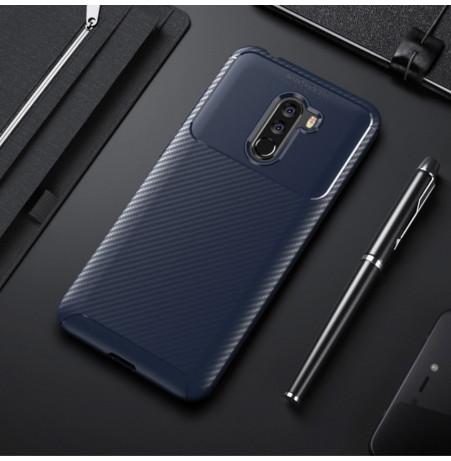 12395 - iPaky Carbon силиконов кейс калъф за Xiaomi Pocophone F1