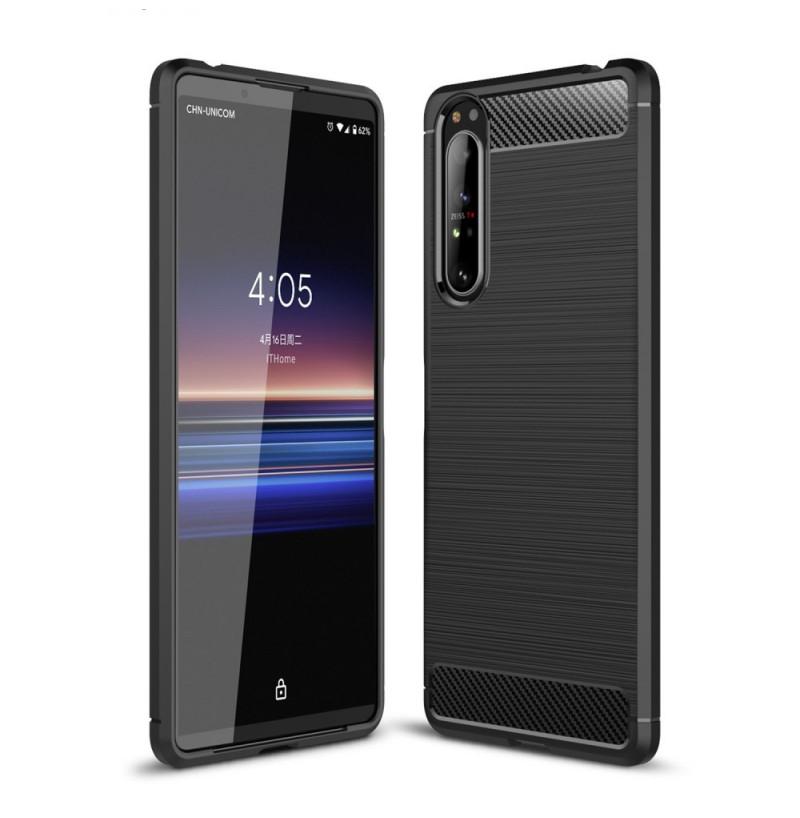 12542 - MadPhone Carbon силиконов кейс за Sony Xperia 1 II
