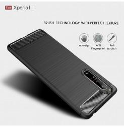 12543 - MadPhone Carbon силиконов кейс за Sony Xperia 1 II