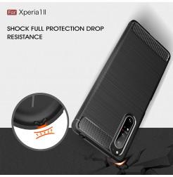 12545 - MadPhone Carbon силиконов кейс за Sony Xperia 1 II