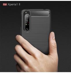 12546 - MadPhone Carbon силиконов кейс за Sony Xperia 1 II
