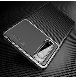 12564 - iPaky Carbon силиконов кейс калъф за Sony Xperia 1 II