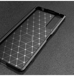 12567 - iPaky Carbon силиконов кейс калъф за Sony Xperia 1 II