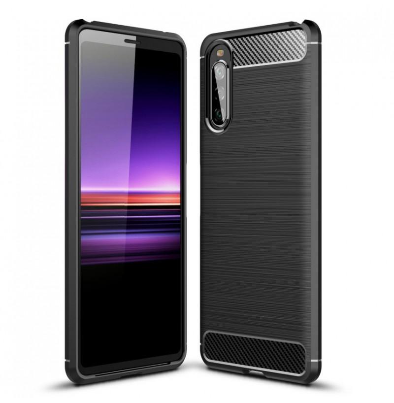 12619 - MadPhone Carbon силиконов кейс за Sony Xperia 10 II