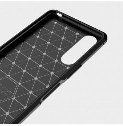 12621 - MadPhone Carbon силиконов кейс за Sony Xperia 10 II