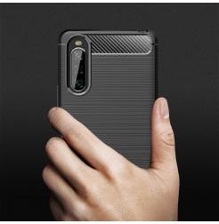 12623 - MadPhone Carbon силиконов кейс за Sony Xperia 10 II
