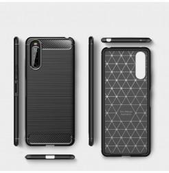 12624 - MadPhone Carbon силиконов кейс за Sony Xperia 10 II