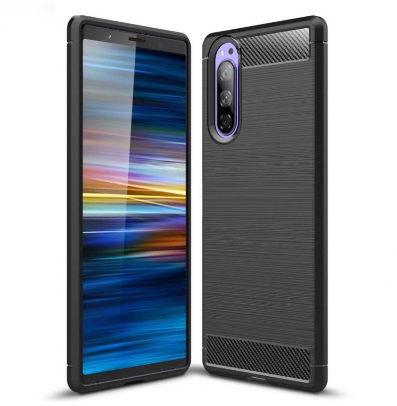 12753 - MadPhone Carbon силиконов кейс за Sony Xperia 5