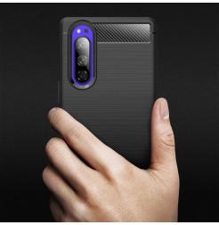 12755 - MadPhone Carbon силиконов кейс за Sony Xperia 5