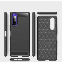 12756 - MadPhone Carbon силиконов кейс за Sony Xperia 5