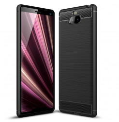 12834 - MadPhone Carbon силиконов кейс за Sony Xperia 10 Plus