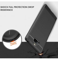12836 - MadPhone Carbon силиконов кейс за Sony Xperia 10 Plus