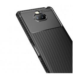 12846 - iPaky Carbon силиконов кейс калъф за Sony Xperia 10 Plus