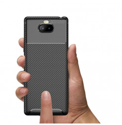 12847 - iPaky Carbon силиконов кейс калъф за Sony Xperia 10 Plus