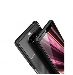 12848 - iPaky Carbon силиконов кейс калъф за Sony Xperia 10 Plus