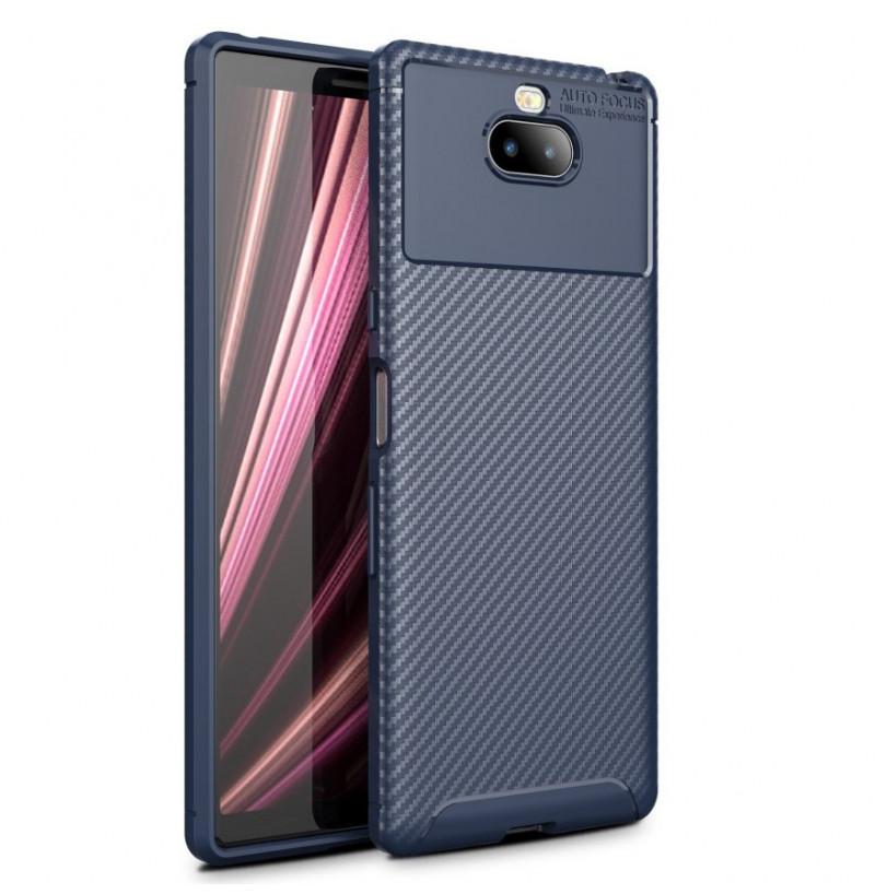 12856 - iPaky Carbon силиконов кейс калъф за Sony Xperia 10 Plus