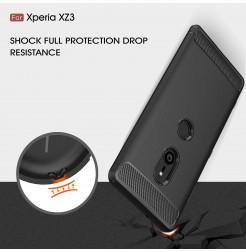 13143 - MadPhone Carbon силиконов кейс за Sony Xperia XZ3