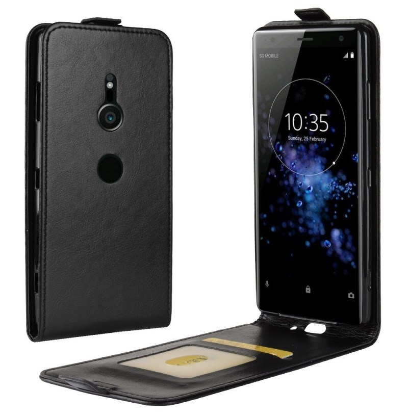 13178 - MadPhone Flip кожен калъф за Sony Xperia XZ3