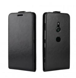 13179 - MadPhone Flip кожен калъф за Sony Xperia XZ3