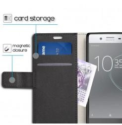 13429 - MadPhone кожен калъф за Sony Xperia XZ1