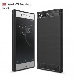 13550 - MadPhone Carbon силиконов кейс за Sony Xperia XZ Premium