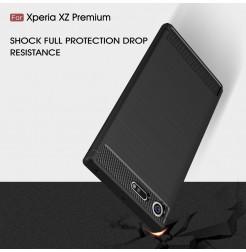 13552 - MadPhone Carbon силиконов кейс за Sony Xperia XZ Premium
