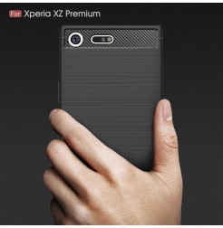 13554 - MadPhone Carbon силиконов кейс за Sony Xperia XZ Premium