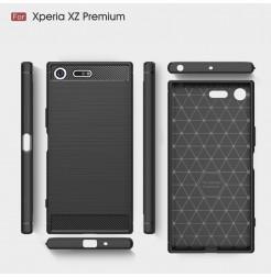 13555 - MadPhone Carbon силиконов кейс за Sony Xperia XZ Premium