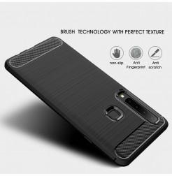 1360 - MadPhone Carbon силиконов кейс за Samsung Galaxy A9 (2018)