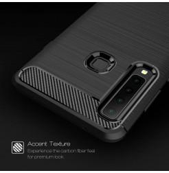 1361 - MadPhone Carbon силиконов кейс за Samsung Galaxy A9 (2018)