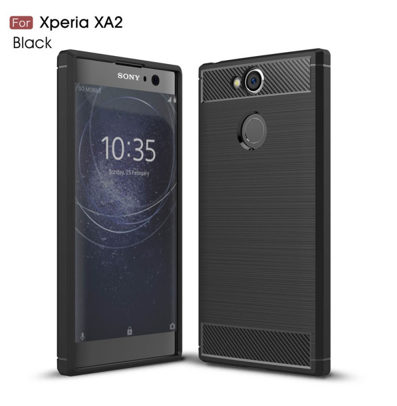 13814 - MadPhone Carbon силиконов кейс за Sony Xperia XA2