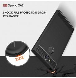13816 - MadPhone Carbon силиконов кейс за Sony Xperia XA2