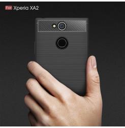 13818 - MadPhone Carbon силиконов кейс за Sony Xperia XA2