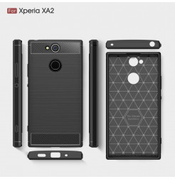 13819 - MadPhone Carbon силиконов кейс за Sony Xperia XA2