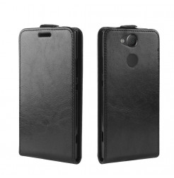13844 - MadPhone Flip кожен калъф за Sony Xperia XA2